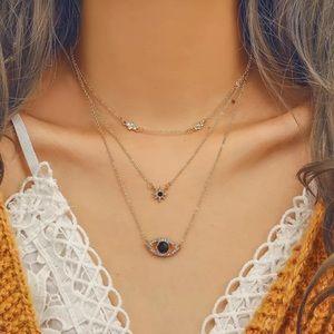 🆕 Boho Black Evil Eye Multilayer Necklace